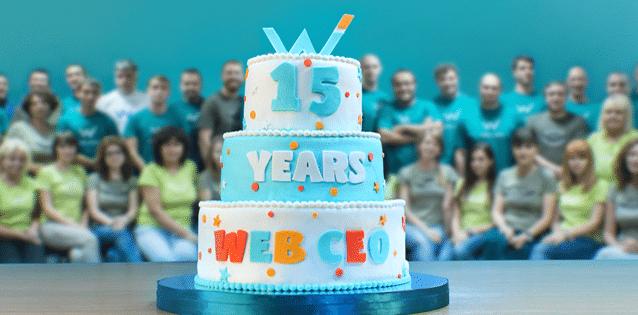 WebCEO חוגגת 15 שנות פעילות מוצלחת